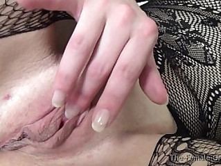 Fleshy Pussy and Redhead Multiorgasmic MILFs Masturbate Solo and Together