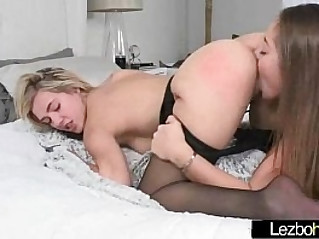 Kissing and licking between hot sexy lesbians movie