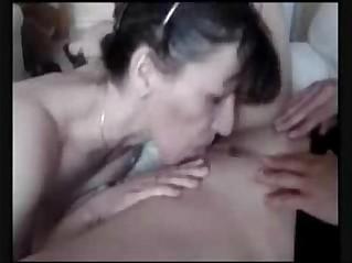 My pervert wife licks and masturbates her lesbian friend