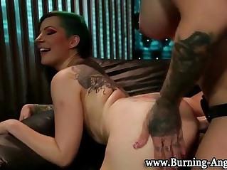 Strapon punk tattoo lesbians