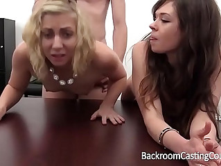 BFF Lesbian Anal Casting Threeway