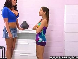 ExxxtraSmall Cute Petite blonde teen Sara Luvvv lesbian sex Mackenzie Pierce