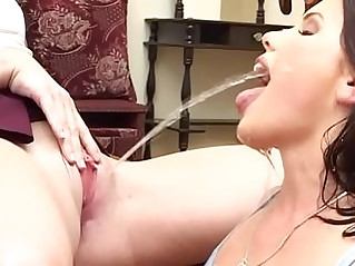 two sexy kinky lesbians piss drinking watersport